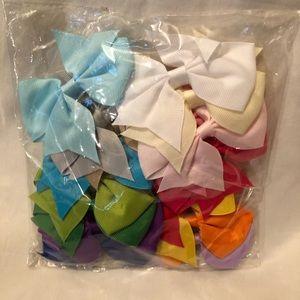 20 grosgrain ribbon alligator clip hair bow set